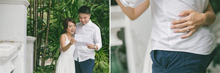 Singapore Pre-Wedding Photography at Sentosa (Love Letter)