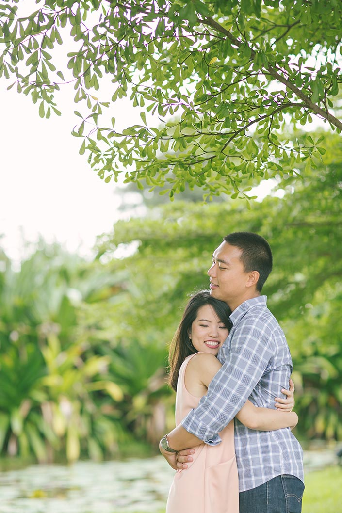 Casual Couple Photoshoot at Gardens by the Bay