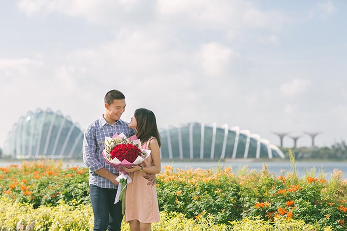 Wedding Proposal Photography at Gardens by the Bay (She said yes)
