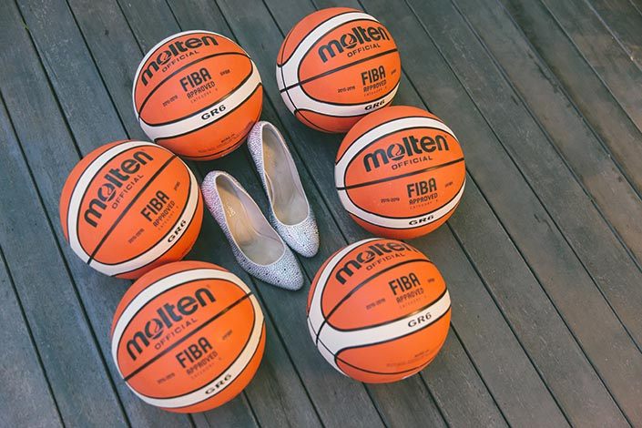Basketball-themed Actual Wedding Day Photography Singapore