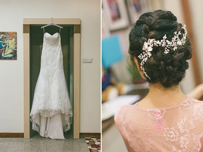 Actual Wedding Day Photography Singapore (Hair and makeup)