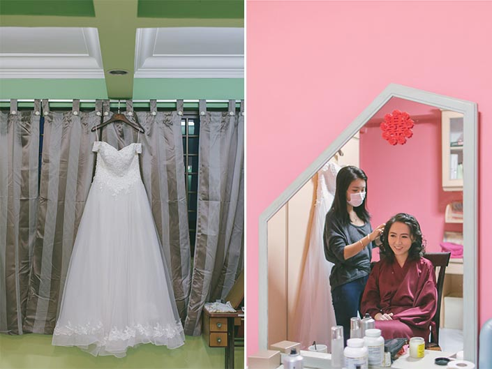 Singapore Actual Wedding Day Photography at Woodlands (Hair & makeup)