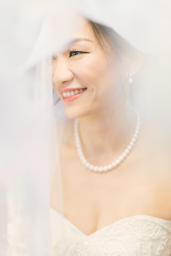 Actual Wedding Day Photography Singapore (Bridal portrait)