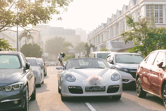 Actual Wedding Day Photography Singapore (Arrival of Groom)