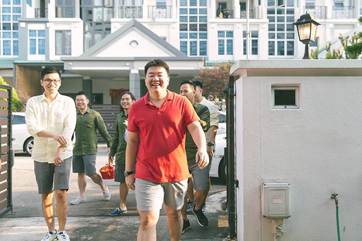 Actual Wedding Day Photography Singapore (Gatecrash games)