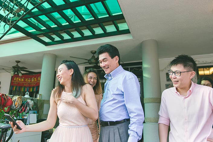 Actual Wedding Day Photography Singapore (Gatecrash games)