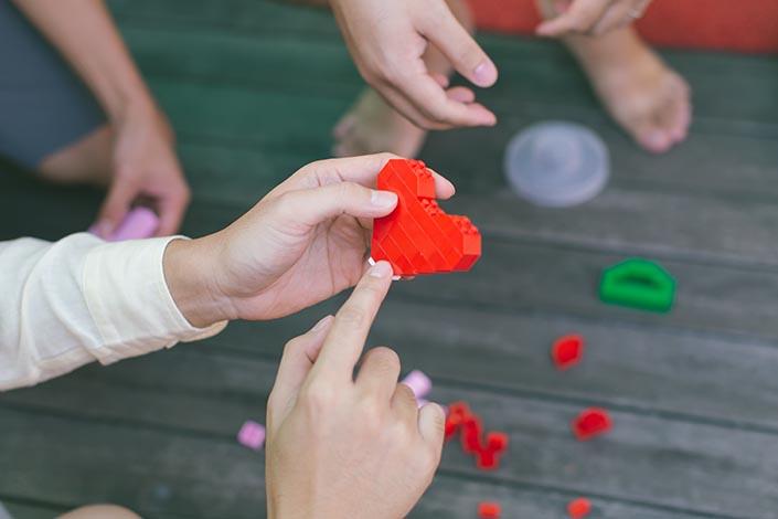 Actual Wedding Day Photography Singapore (Gatecrash games - Lego heart)