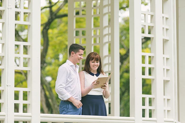 Singapore Botanic Gardens (Bandstand) Pre-Wedding Engagement Photography