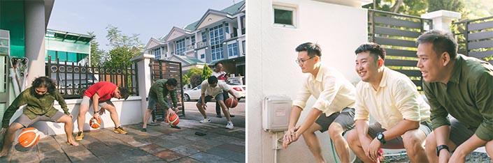 Actual Wedding Day Photography Singapore (Gatecrash games - Basketball)