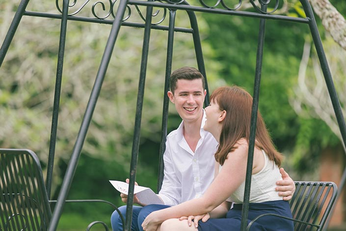 Singapore Botanic Gardens (swing) Pre-Wedding Engagement Photography