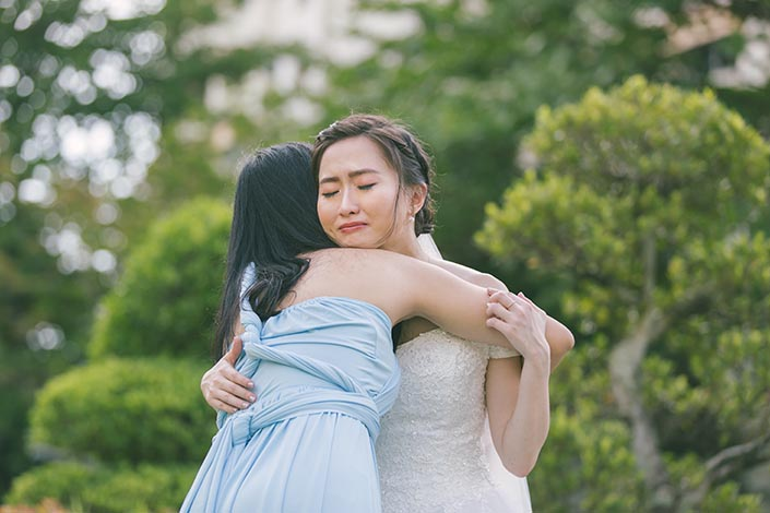Singapore Actual Wedding Day Photography at Woodlands Admiral Garden (Bride and bridesmaids)