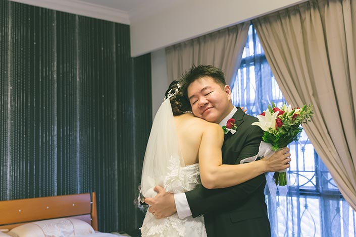 Actual Wedding Day Photography Singapore (Groom receiving Bride)