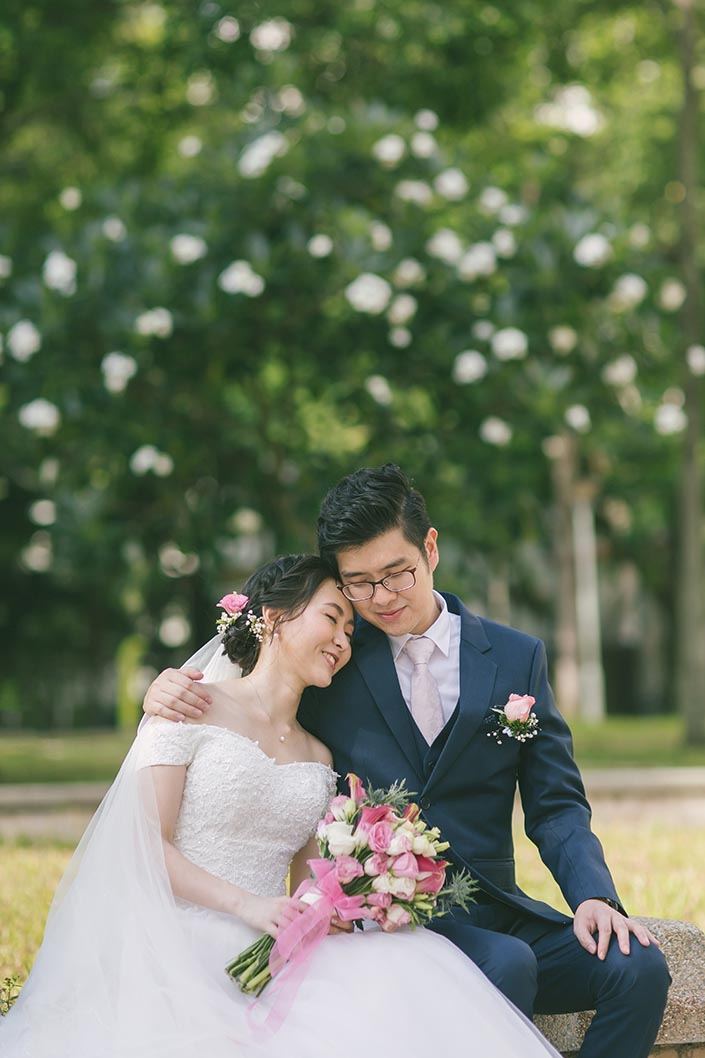 Singapore Actual Wedding Day Photography at Woodlands Admiral Garden (Bride and Groom)