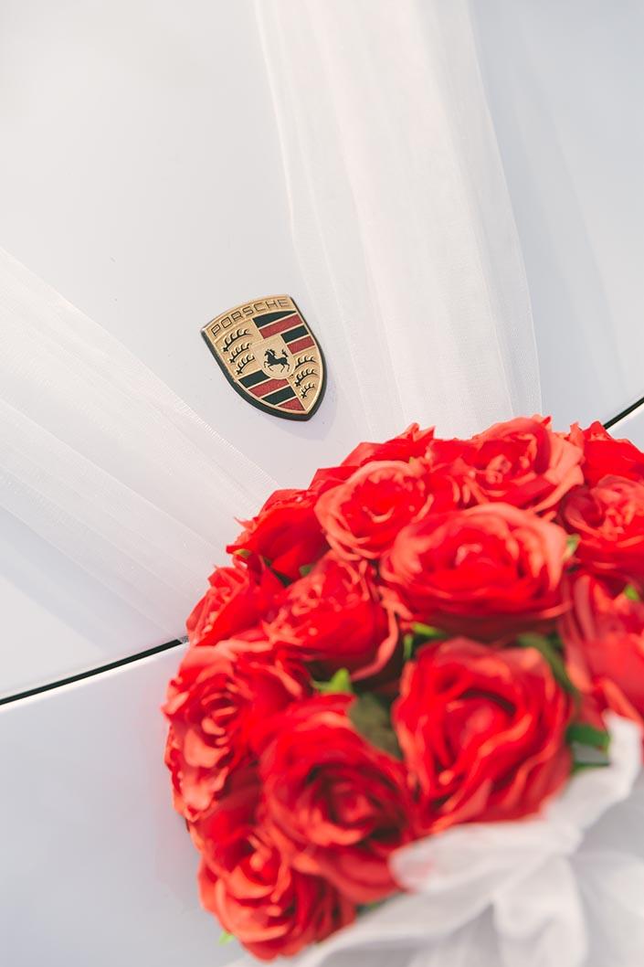 Actual Wedding Day Photography Singapore (Porsche car)