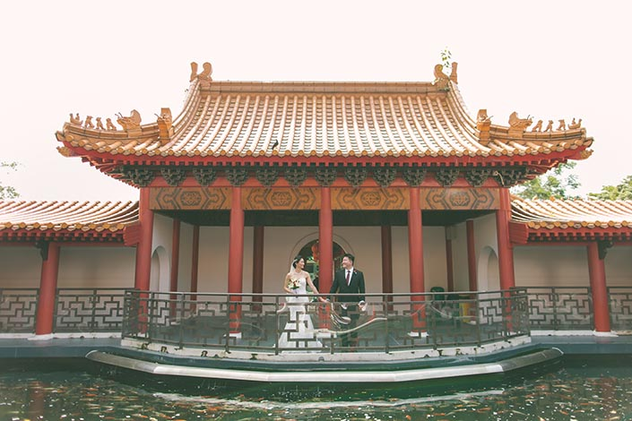 Actual Wedding Day Photography Singapore (Couple shoot at Chinese Gardens)