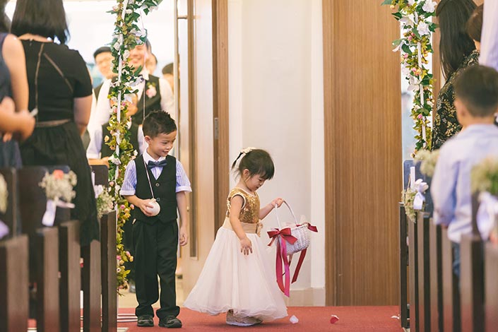 Singapore Actual Wedding Day Church Photography at Bedok Lutheran Church