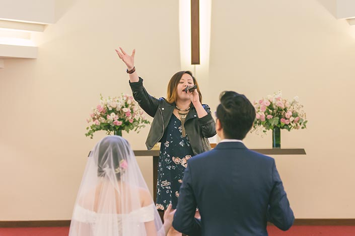 Singapore Actual Wedding Day Church Photography at Bedok Lutheran Church (Songs of worship)