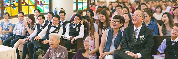 Singapore Actual Wedding Day Church Photography at Bedok Lutheran Church (Thank-you speech)