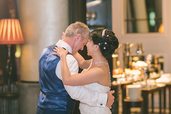 First Dance at La Brasserie at the Fullerton Bay Hotel
