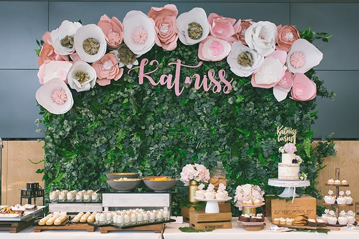 Decor styling, Backdrop, Desserts, and Birthday Cake by Dreams & Doodle