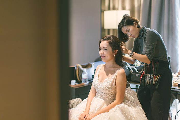 Wedding Day Photography at Swissotel the Stamford