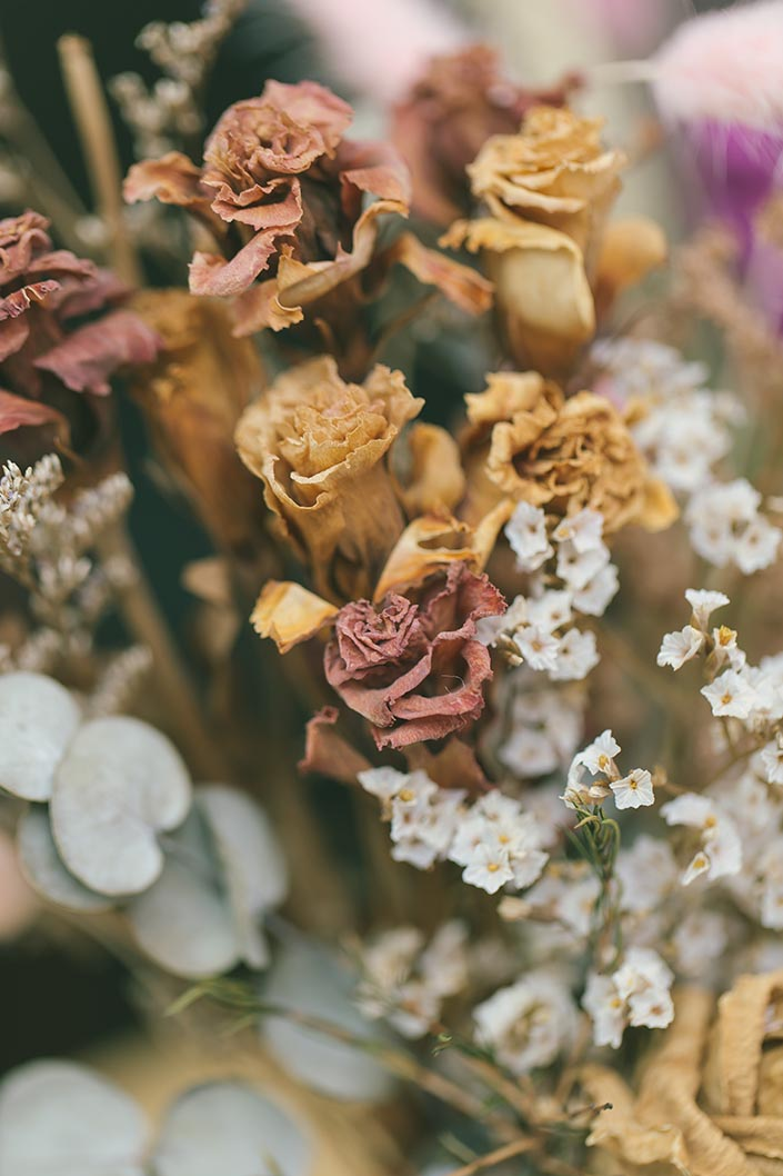 Wedding Decor Styling Dried Flowers