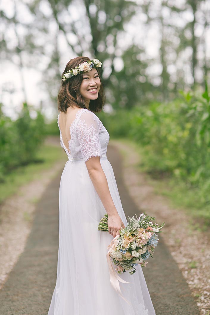 Bridal Portrait with Tangyong Makeup and Lavender Love Florist