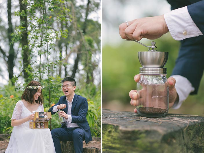Surprise Coffee Bean Mixer Gift for Pre-Wedding Shoot