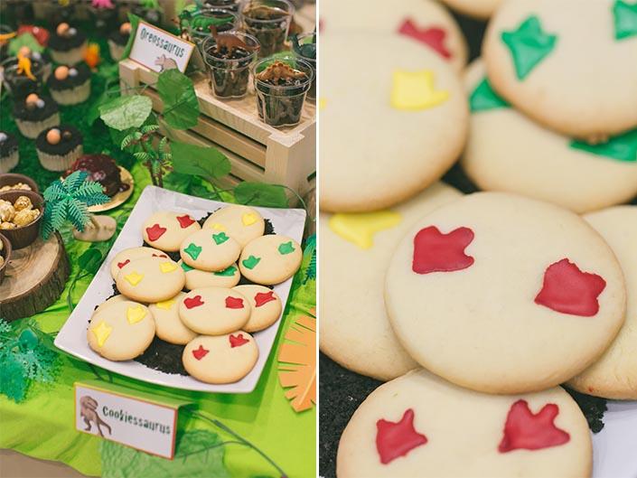 Celebrate with Cake dinosaur-themed dessert table