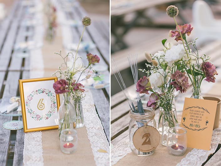 Table Flowers by Fleurapy and Table Setup by Little Island Brewing Co