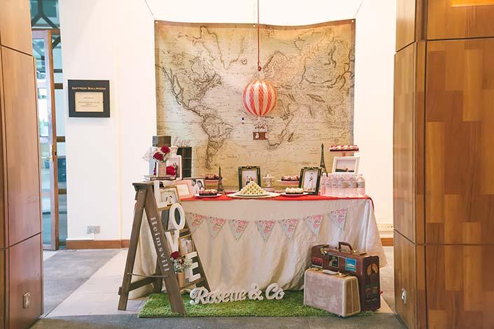Travel themed Wedding Day Photography At Sentosa Resort
