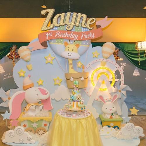 Animal Wonderland-themed 1-year old Birthday Party Photography (Zayne)