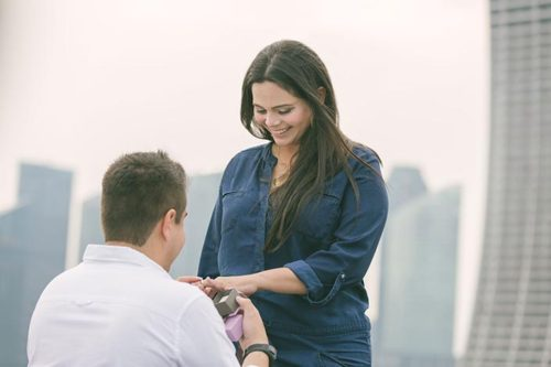 Wedding Proposal Singapore at Gardens by the Bay IndoChine