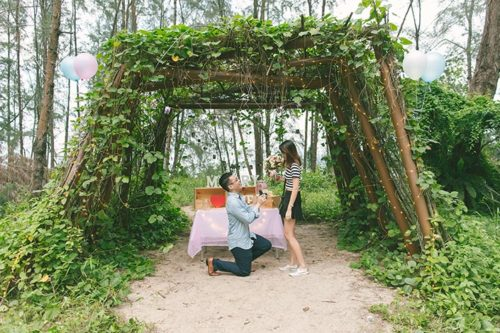 Singapore Wedding Proposal Photography at Coney Island (Leonard & Nicole)