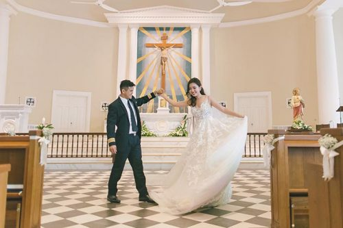 Wedding Day Photography at Cathedral of the Good Shepherd and Carnivore CHIJMES